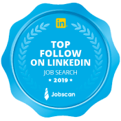 Badge logo of LinkedIn top follow awards