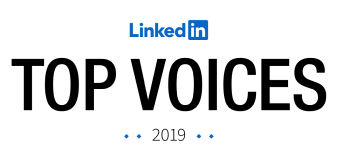 LinkedIn top voices award badge graphic
