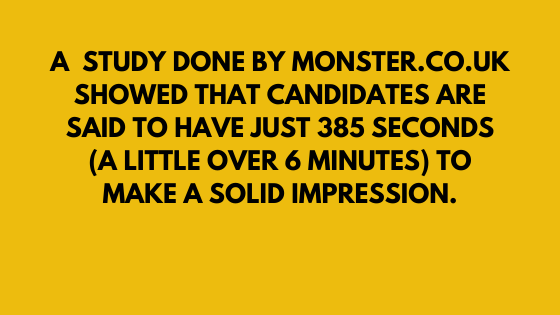 "Candidates have just over 6 minutes to make a first impression in an interview. When you answer ""tell me about yourself"" your first few moments really matter."